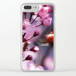 Fresh cherries in the pink blossom dream Clear iPhone Case