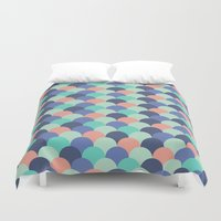 scales Duvet Covers featuring Scales by forhumourandhope