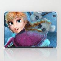 olaf iPad Cases featuring Anna & Olaf  by Niniel