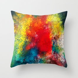 On the bright side - Colorful abstract watercolor Throw Pillow