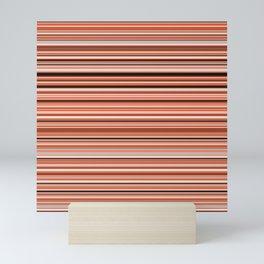 Old Skool Stripes - Sunset - Horizontal Mini Art Print