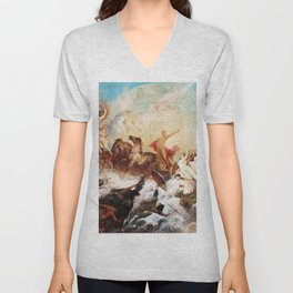 Hans Makart - The victory of light over darkness - Digital Remastered Edition Unisex V-Neck