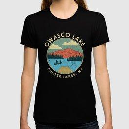 Finger Lakes NY New York Owasco Lake graphic T-shirt