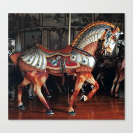 The Armored Horse Canvas Print