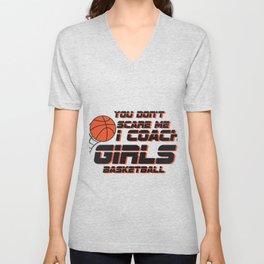 Coach Girls Basketball Sport Gift Unisex V-Neck