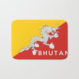 Bhutan country flag name text Bath Mat