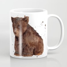 Cute Baby Bear, teddy bear, teddy, bear cub, brown bear, nursery art, woodland, bear painting Mug