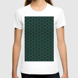 Green Windmill Pattern T-shirt