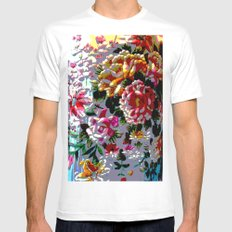 Stitched Up! MEDIUM White Mens Fitted Tee