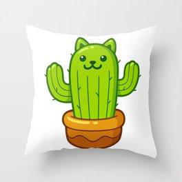 Cat cactus (catcus?) Throw Pillow