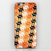 striped iPhone & iPod Skins featuring Striped Unicorn by That's So Unicorny
