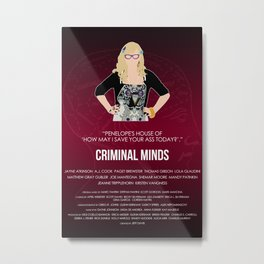 Criminal Minds - Garcia Metal Print