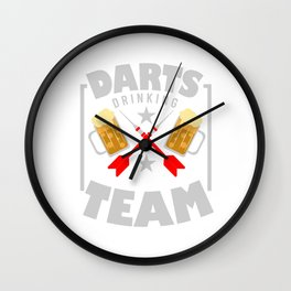 Darts And Beer Dart Board Darts Player Flight Gift Wall Clock