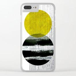 geometric design Clear iPhone Case