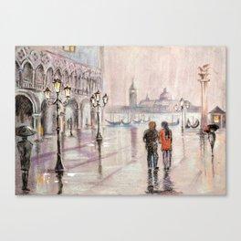 A rainy day in Venice Canvas Print