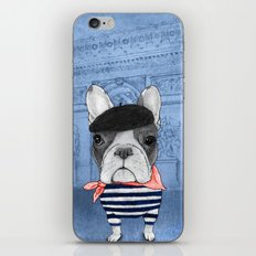 Frenchie with Arc de Triomphe iPhone & iPod Skin