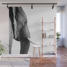 Black and white elephant portrait Wall Mural