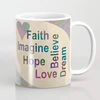 inspirational Mugs featuring Inspirational by LLL Creations