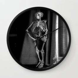 The Skeleton by the Printer Wall Clock