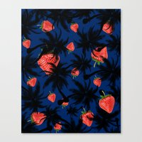 strawberry Canvas Prints featuring strawberry  by mark ashkenazi