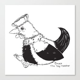 Bruce the toy rooster Canvas Print