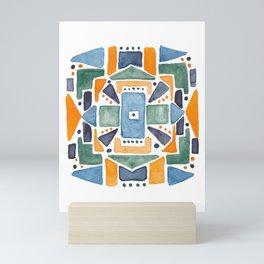 Geometric Watercolor Mini Art Print