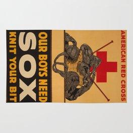 Vintage poster - Knit Your Bit Rug