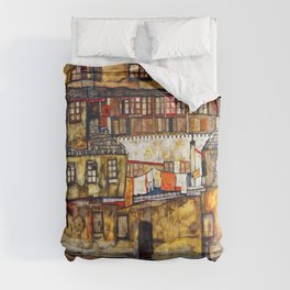 Egon Schiele House Wall on the River Comforters