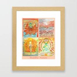 FOUR BUDDHAS  — BUDDHA NATURE Framed Art Print