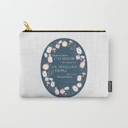Alice in Wonderland - Six Impossible Things Carry-All Pouch