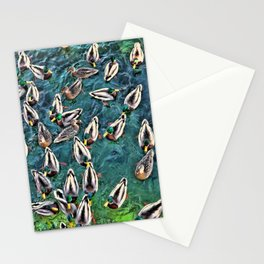 Duck Swarm Stationery Cards