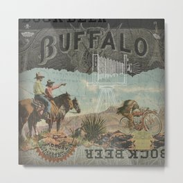 Buffalo Bock Beer Run Metal Print