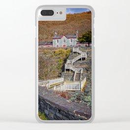 Hospital Steps at Llanberis Quarry Clear iPhone Case
