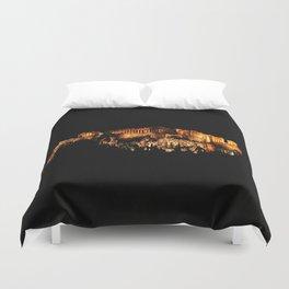 Acropolis Night View Duvet Cover