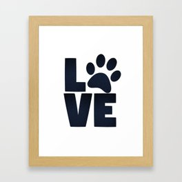 Love Pets Paw Cat Dog Cute Framed Art Print