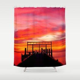 Gated Sunset Shower Curtain