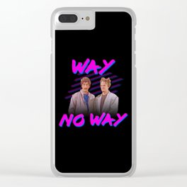 Way No Way (best boys band of 80s) Clear iPhone Case
