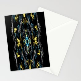 Abstract Silk Drawing Stationery Cards