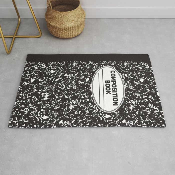 Composition Notebook College School Student Geek Nerd Rug