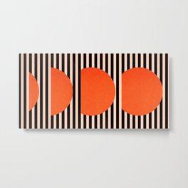 Abstraction_SUNSET_LINE_ART_Minimalism_001 Metal Print