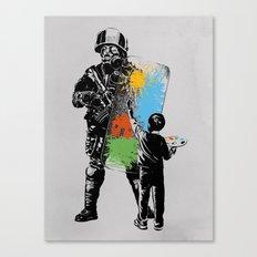 Turmoil Paint Canvas Print