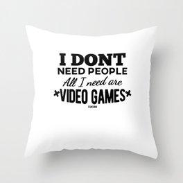 Video Game Gamer gamble online gift Throw Pillow