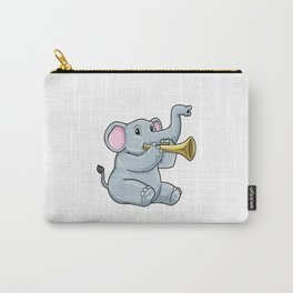 Funny elephant is playing the trumpet Carry-All Pouch