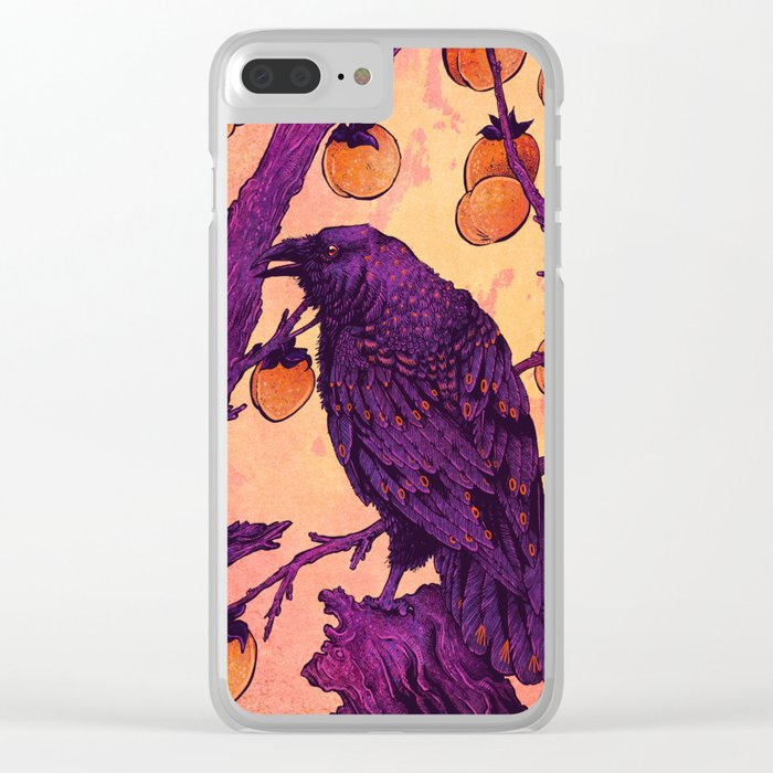 Raven and Persimmons Clear iPhone Case