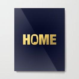 Alabama home state faux gold foil print Metal Print