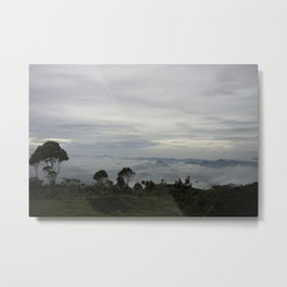Mist-shrouded Mountains Metal Print