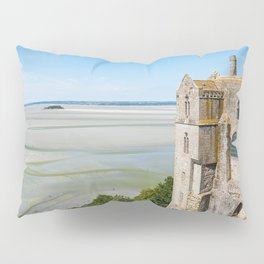 Mont Saint-Michel and the bay at low tide Pillow Sham