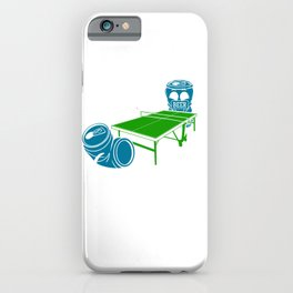 Table Tennis Funy Beer Playing Ping Pong  iPhone Case