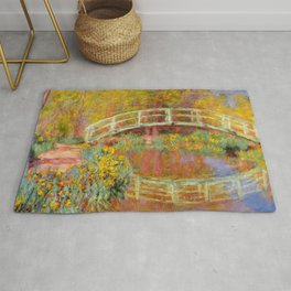 "Claude Monet ""The Japanese Bridge at Giverny"" Rug"