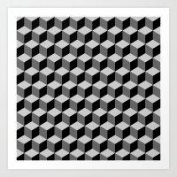 escher Art Prints featuring Escher by Adikt